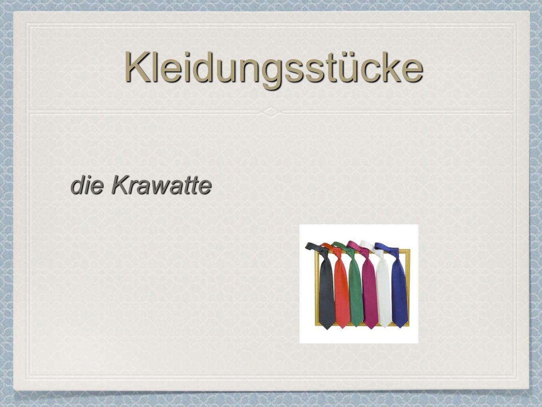 KleidungsstückeKleidungsstücke die Krawatte