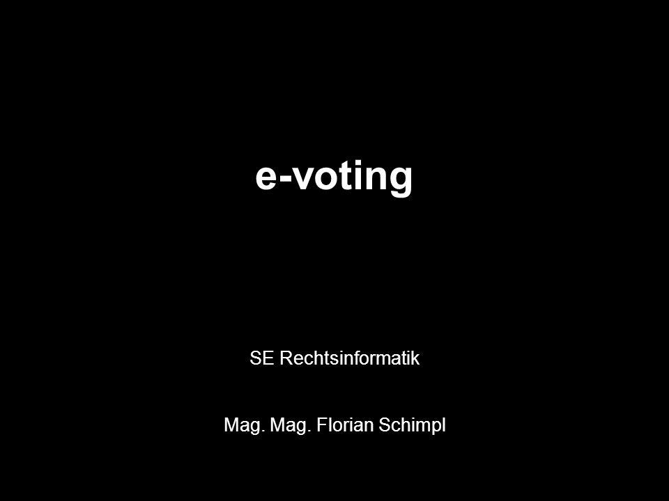 Einleitung A)Urnenwahl (Präsenzwahl): § 68 Abs 1 NRWO: (…) Ist (…) [der Wähler] im Wählerverzeichnis eingetragen, so hat ihm der Wahlleiter das leere Wahlkuvert und den amtlichen Stimmzettel zu übergeben.