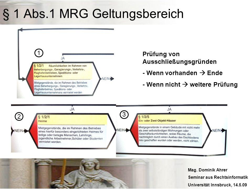 Mag. Dominik Ahrer Seminar aus Rechtsinformatik Universität Innsbruck, 14.5.09 Prüfung von Ausschließungsgründen - Wenn vorhanden Ende - Wenn nicht we