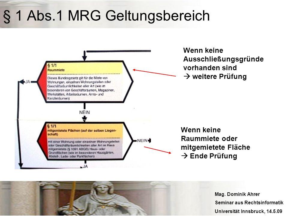 Mag. Dominik Ahrer Seminar aus Rechtsinformatik Universität Innsbruck, 14.5.09 Wenn keine Ausschließungsgründe vorhanden sind weitere Prüfung Wenn kei