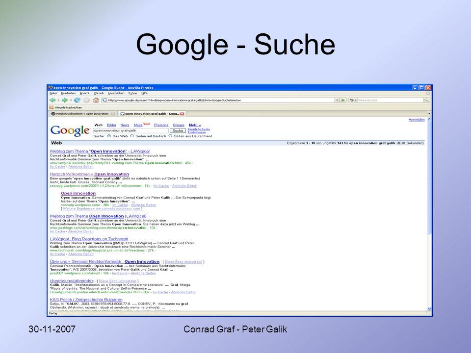 30-11-2007Conrad Graf - Peter Galik Google - Suche