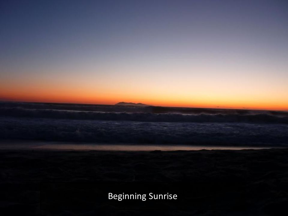 Beginning Sunrise