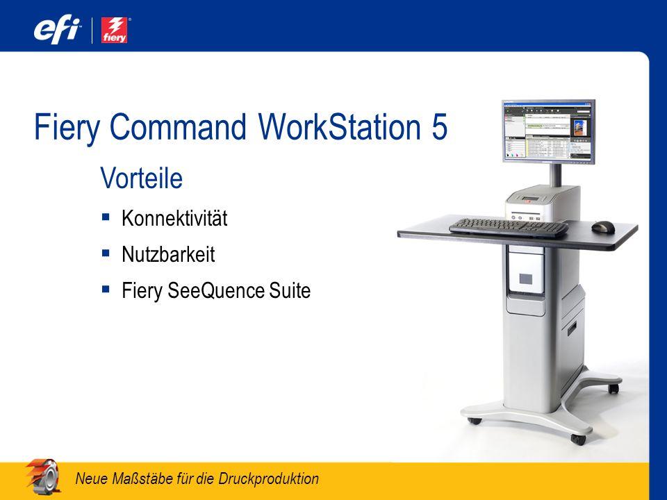 Neue Maßstäbe für die Druckproduktion Fiery Command WorkStation 5 Vorteile Konnektivität Nutzbarkeit Fiery SeeQuence Suite