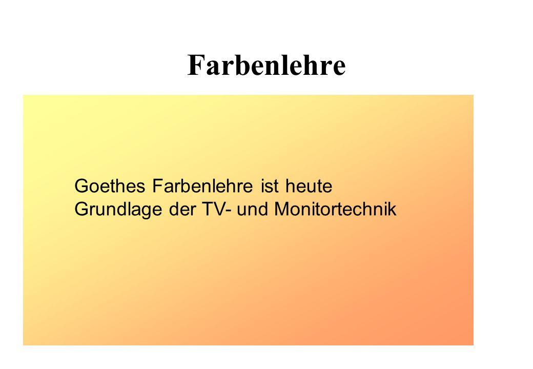 Farbenlehre Weißes Licht Unendlich viele Farben Newton Goethe 3 Farbentheorie Goethes Farbenlehre ist heute Grundlage der TV- und Monitortechnik