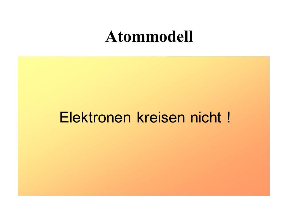 Atommodell Kreisendes Elektron Zentral beschleunigtes Elektron müßte elektromagnetische Wellen abstrahlen Unerklärliche Quantensprünge zwischen erlaub