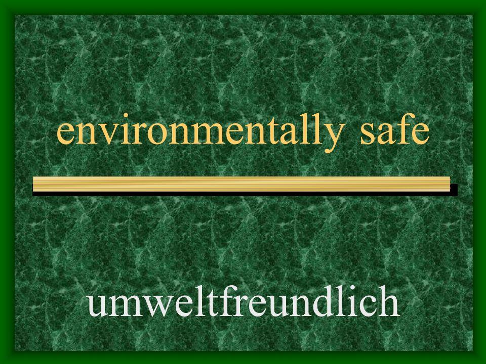 exclusively umweltfreundlich ausschließlich