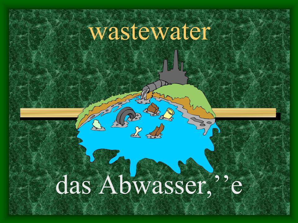 trash, waste der Abfall,e
