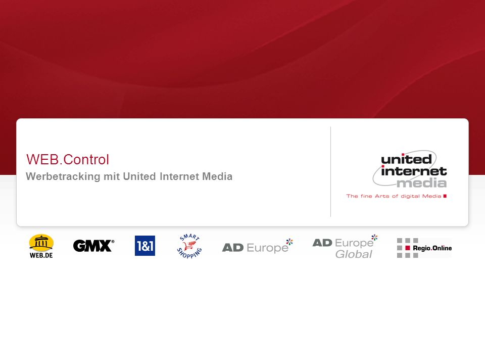WEB.Control Werbetracking mit United Internet Media