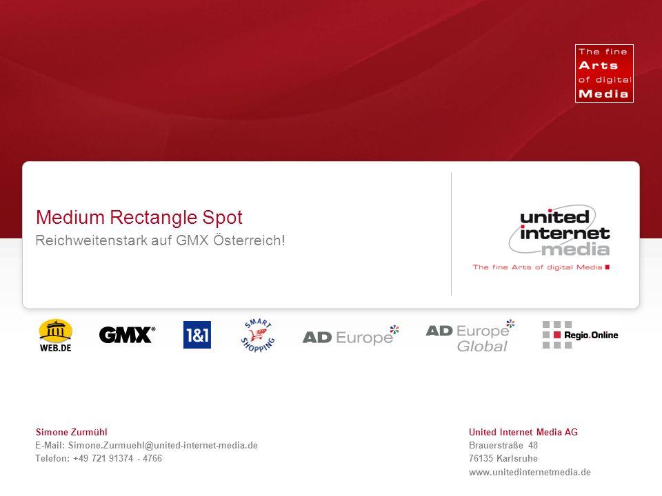 Qualität in der Reichweite. Medium Rectangle Spot Reichweitenstark auf GMX Österreich.