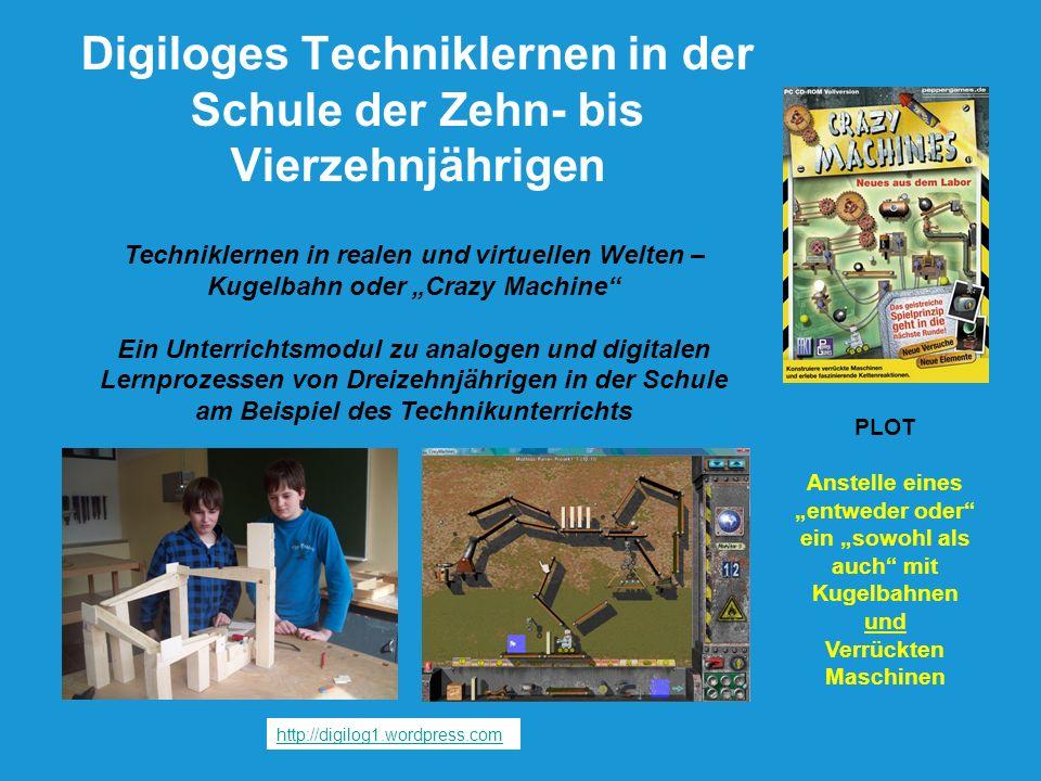 Techniklernen in realen und virtuellen Welten – Kugelbahn oder Crazy Machine Ein Unterrichtsmodul zu analogen und digitalen Lernprozessen von Dreizehn