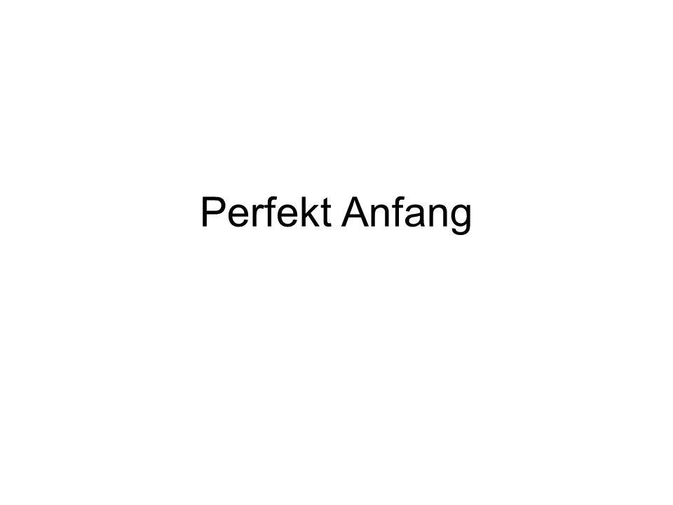 1.Kateri glagoli tvorijo Perfekt s pomožnim glagolom haben in kateri z sein.