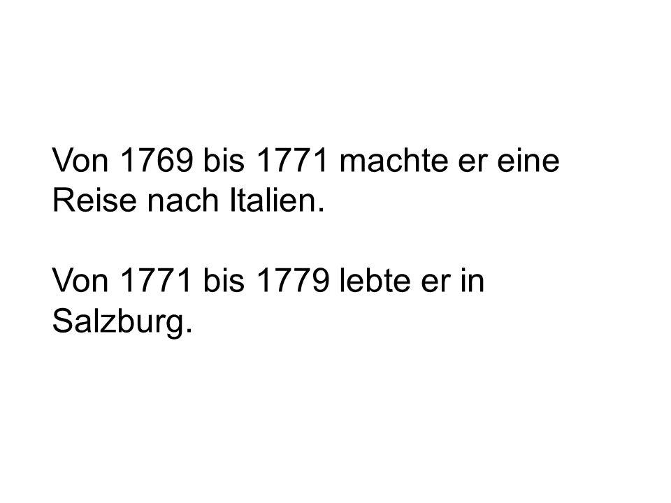 1781 zog er entgültig nach Wien um.1782 heiratete er Konstanze Weber.