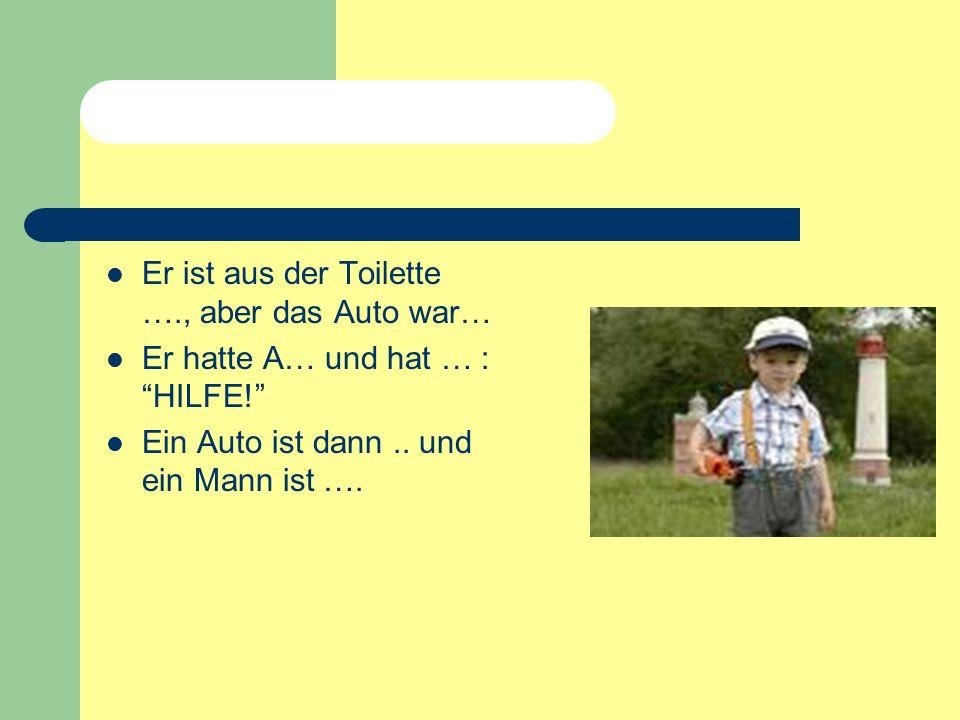 1. Junge auf der A… vergessen Dirk ist um 22 Uhr von Stuttgart … Er und seine Schwester … müde und haben auf dem … geschlafen. Dirks Vater hat auf dem