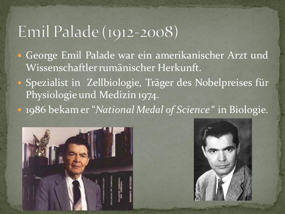 George Emil Palade war ein amerikanischer Arzt und Wissenschaftler rumänischer Herkunft.