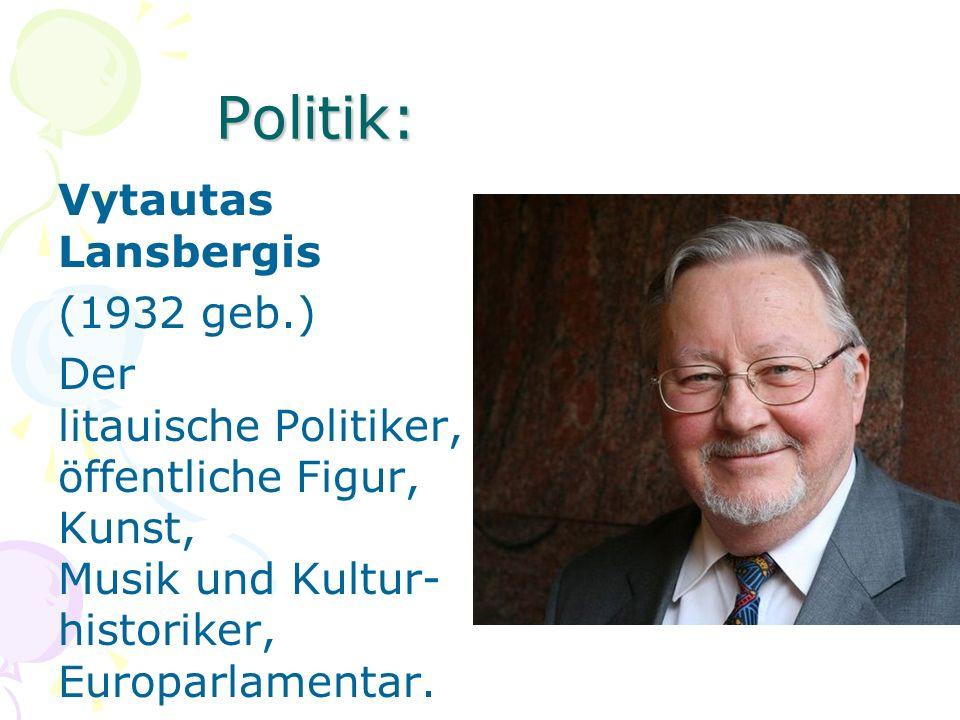 Politik: Vytautas Lansbergis (1932 geb.) Der litauische Politiker, öffentliche Figur, Kunst, Musik und Kultur- historiker, Europarlamentar.
