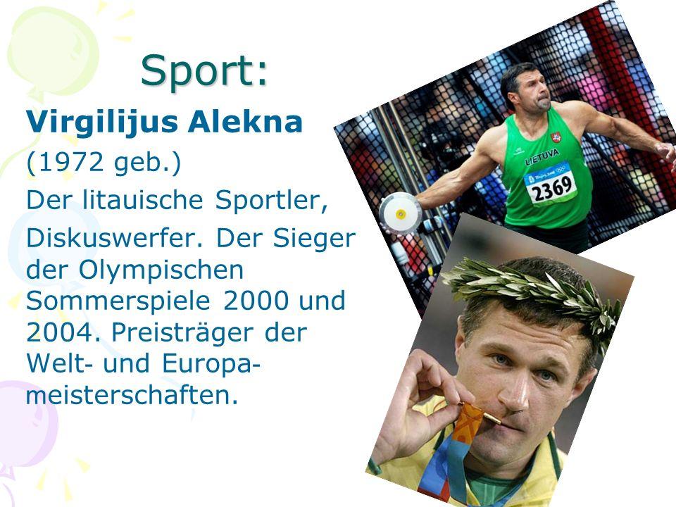 Sport: Virgilijus Alekna (1972 geb.) Der litauische Sportler, Diskuswerfer. Der Sieger der Olympischen Sommerspiele 2000 und 2004. Preisträger der Wel