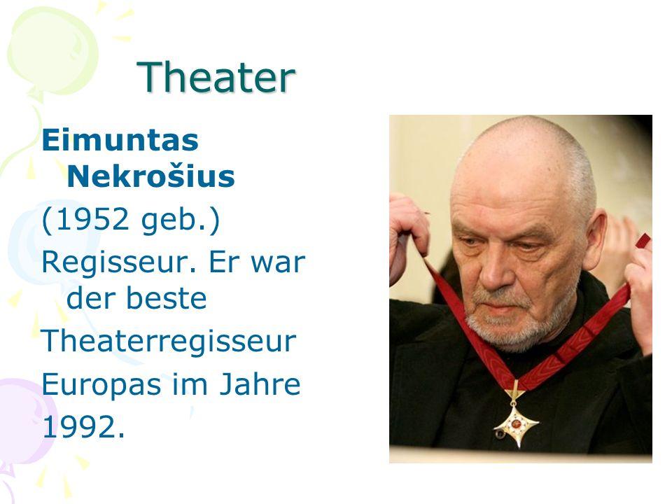 Theater Eimuntas Nekrošius (1952 geb.) Regisseur. Er war der beste Theaterregisseur Europas im Jahre 1992.