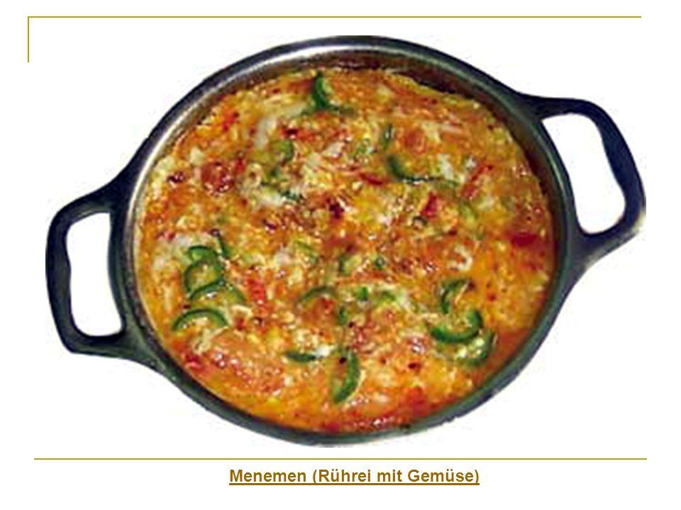 Menemen (Rührei mit Gemüse)