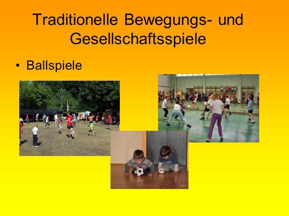 Traditionelle Bewegungs- und Gesellschaftsspiele Ballspiele