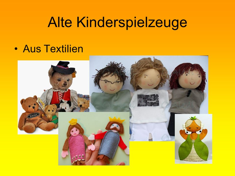 Alte Kinderspielzeuge Aus Textilien