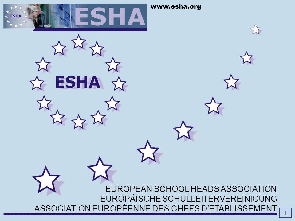 www.esha.org Regionalisierung in ESHA Einheit in der Vielfalt 36 Länder und noch mehr Sprachen......