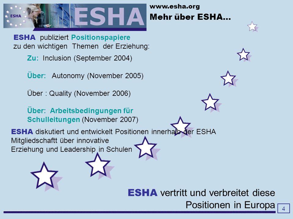 www.esha.org Mehr über ESHA...