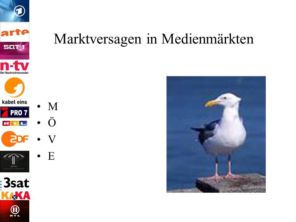 Marktversagen in Medienmärkten M Ö V E