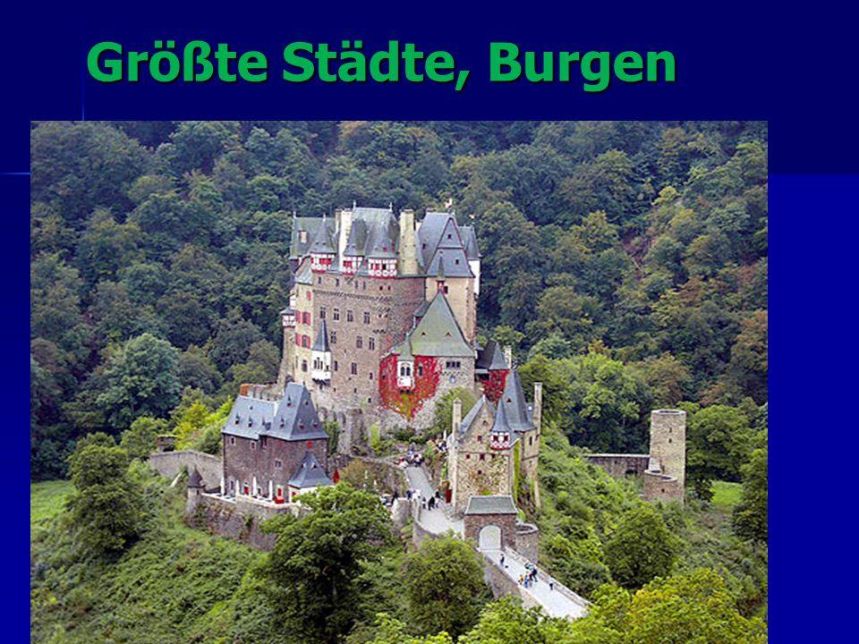 Größte Städte, Burgen Größte Städte, Burgen