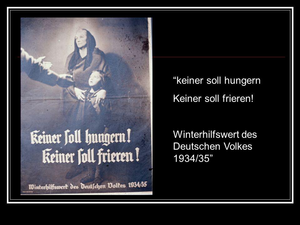 keiner soll hungern Keiner soll frieren! Winterhilfswert des Deutschen Volkes 1934/35