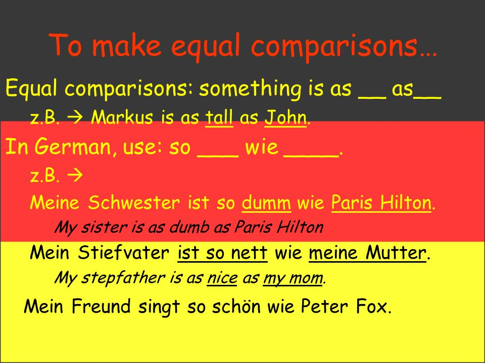 Making Comparisons Personal Id./Descriptions Unit Deutsch Aktuell 2