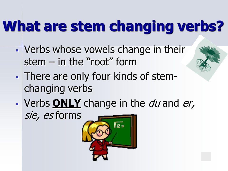 Stem Changing Verbs Deutsch 1