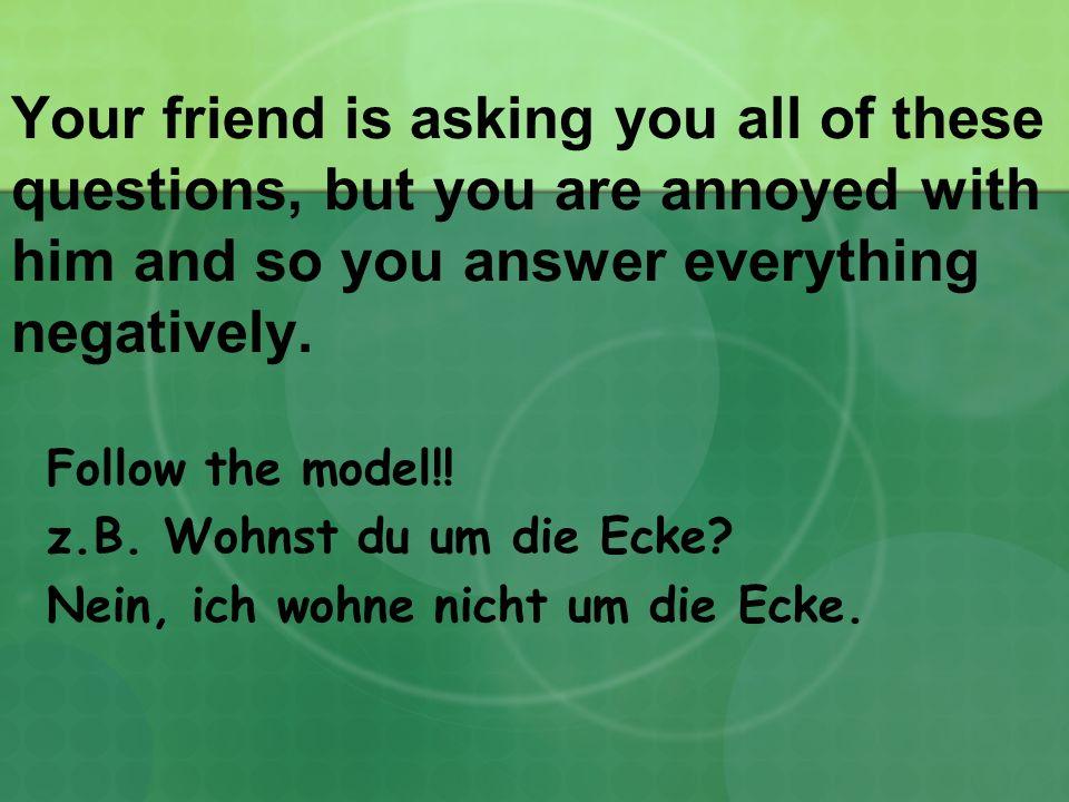 1.Machst du die Hausaufgabe am Dienstag.2.Lernst du jetzt Deutsch.