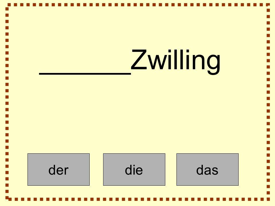 derdiedas ______Zwilling