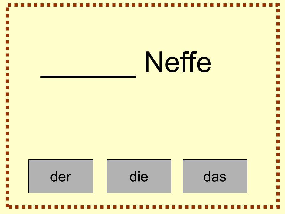 derdiedas ______ Neffe