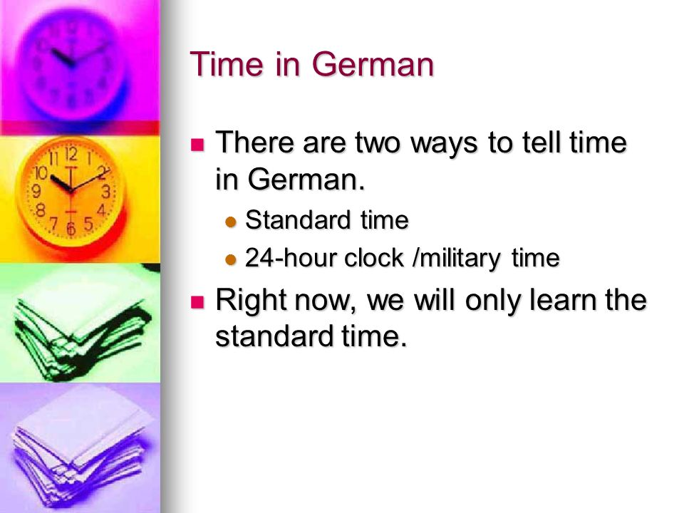 Telling Time in German Deutsch 1 Part 1