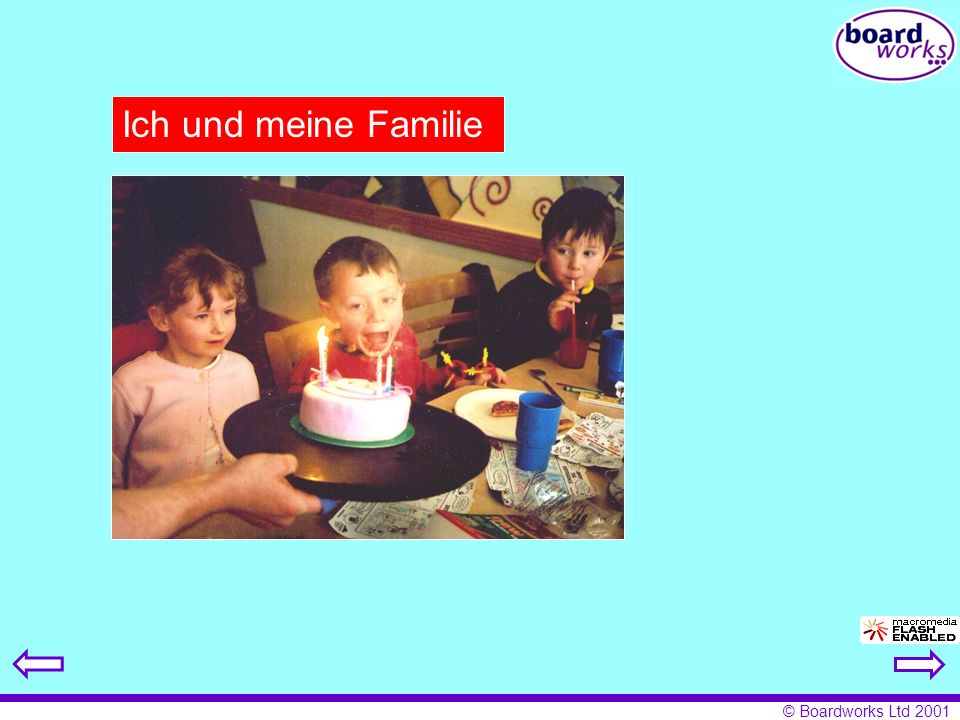 © Boardworks Ltd 2001 Ich und meine Familie