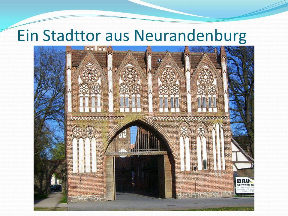 Ein Stadttor aus Neurandenburg