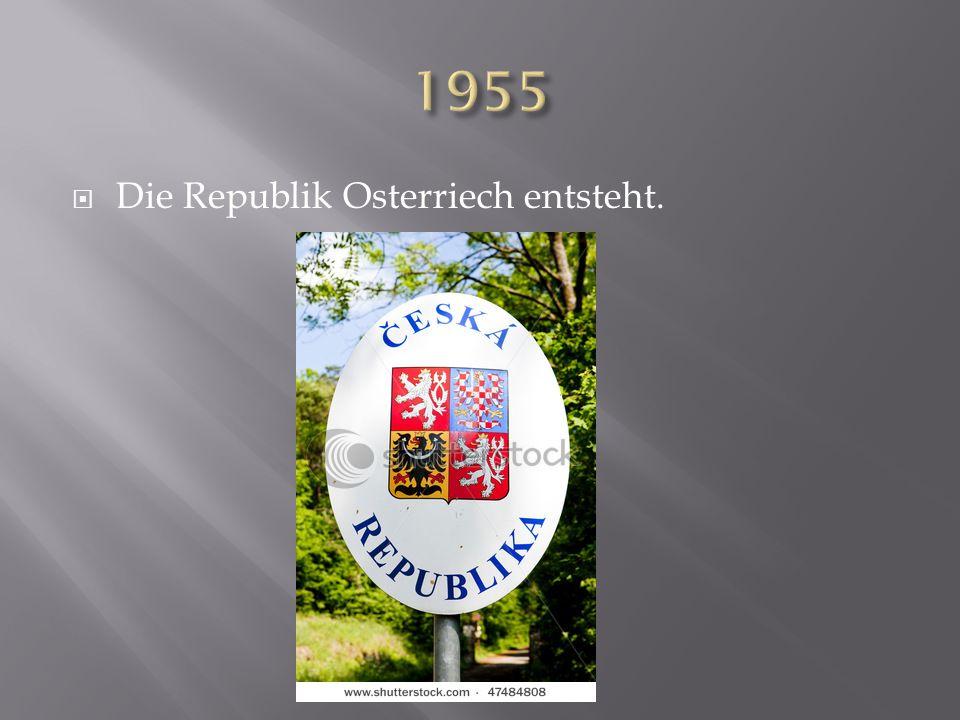 Die Republik Osterriech entsteht.