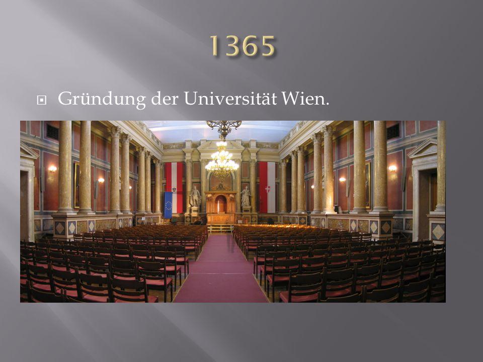 Gründung der Universität Wien.