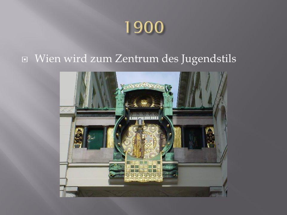 Wien wird zum Zentrum des Jugendstils