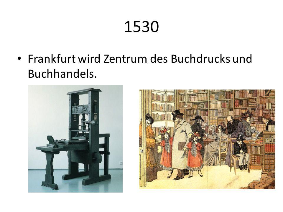 1585 Beginn der Frankfurter Börse.