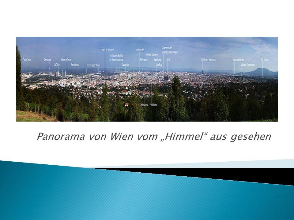 Panorama von Wien vom Himmel aus gesehen