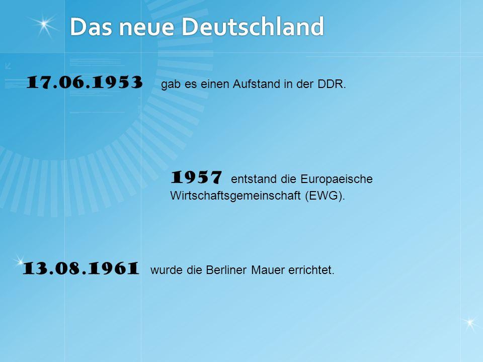 Das vereinigte Deutschland 09.11.1989 fiel die Berliner Mauer.