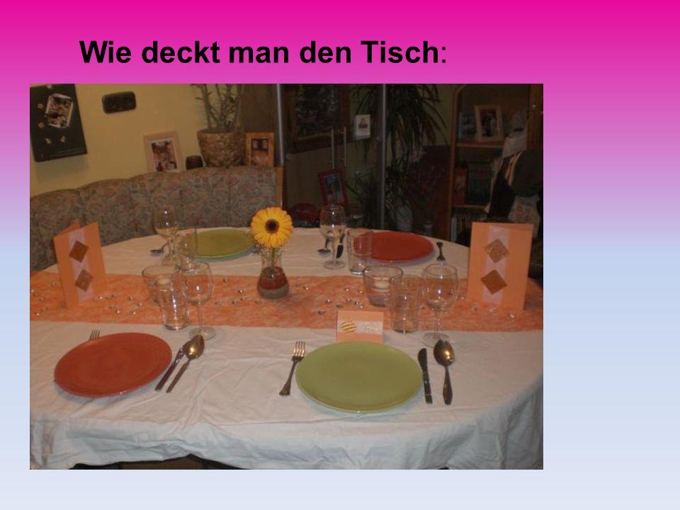 Wie deckt man den Tisch: