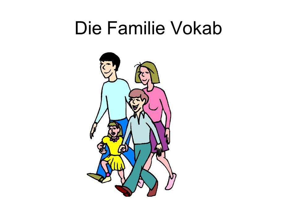 Die Familie Vokab