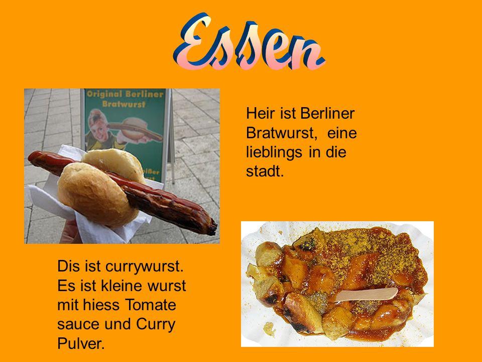 Heir ist Berliner Bratwurst, eine lieblings in die stadt.