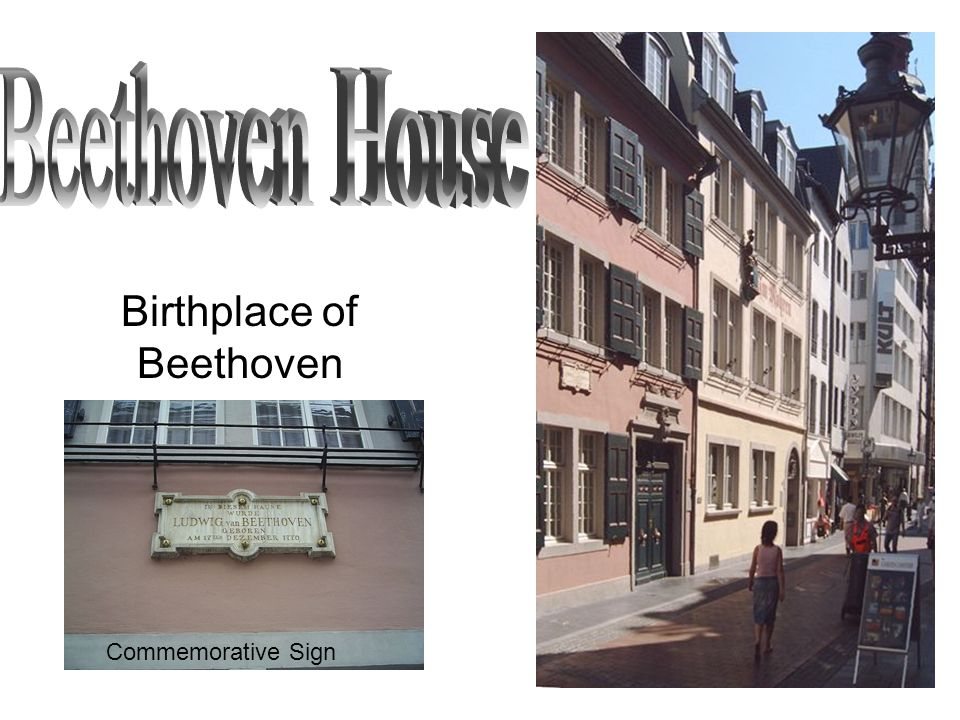 Birthplace of Beethoven Commemorative Sign