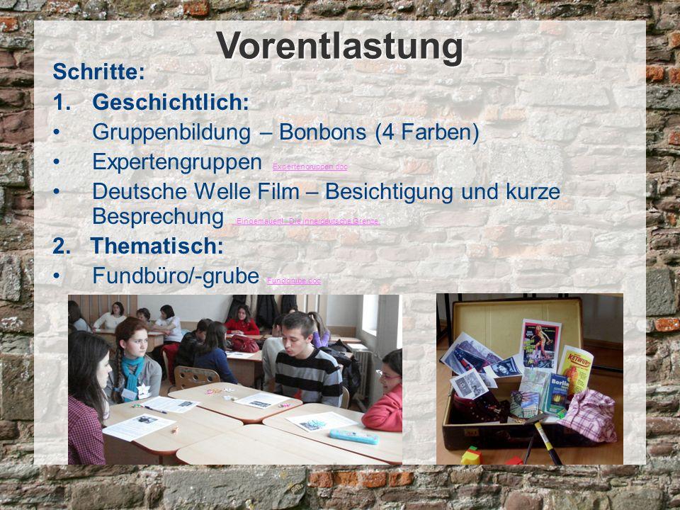 Schritte: Postergalerie Posterreihe.doc Posterreihe.doc Kennenlernspiel – Namenschilder Namenschilder.JPG Namenschilder.JPG Barometer: Wie weit wohnst