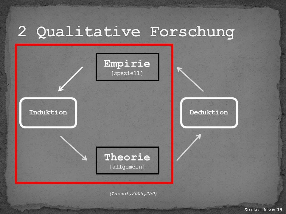 Es gibt 3 Forschungsperspektiven in der qualitativen Forschung 1.Zugänge zu subjektiven Sichtweisen 2.