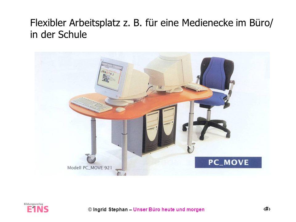 © Ingrid Stephan – Unser Büro heute und morgen 14 Flexibler Arbeitsplatz z. B. für eine Medienecke im Büro/ in der Schule
